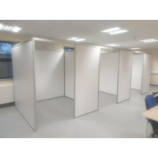 2m COVID Vaccination Booth with return privacy wall