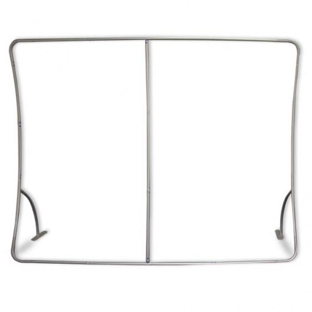 Framework of vertical curved fabric display