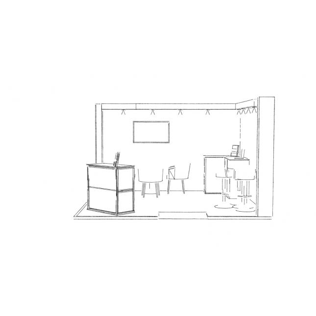Design of hired exhibition stand