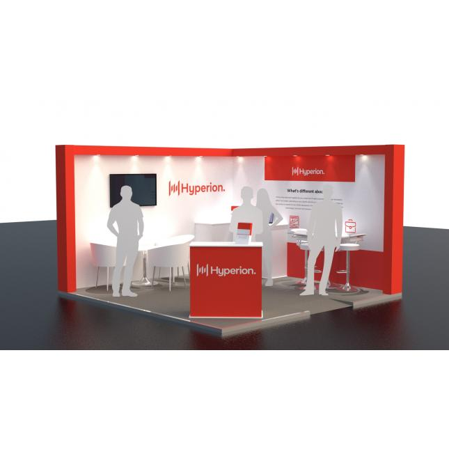 Hired exhibition stand services 4x4