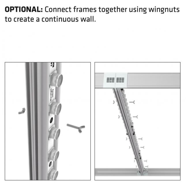Connecting portable lightboxes together