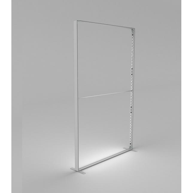 Framework and LEDs for 1.4m wide portable lightbox