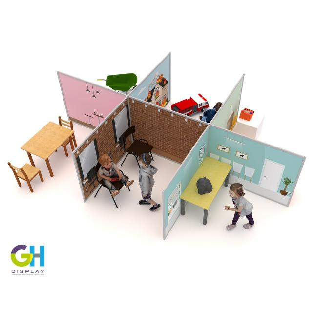 Children's play display role play zones