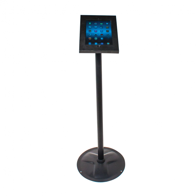 Black Floor Standing iPad Holder