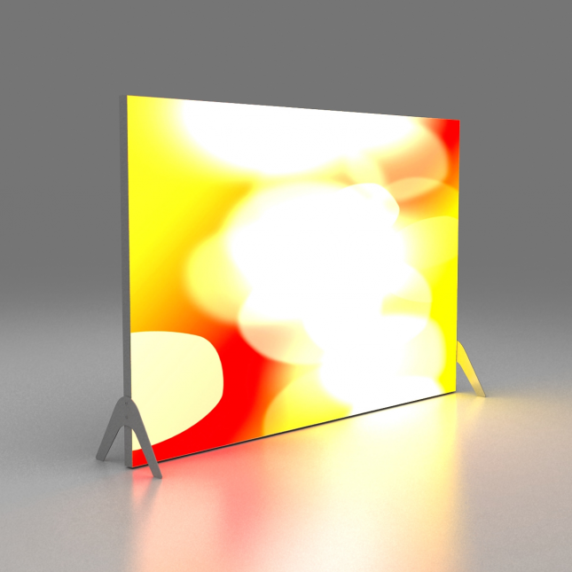 Tension Fabric System Lightbox Freestanding Single Sided image