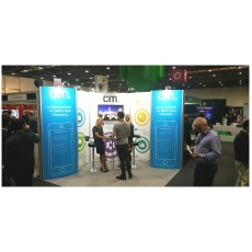 CM Telecom are exhibiting at appsworld with a GH Display custom exhibition stand