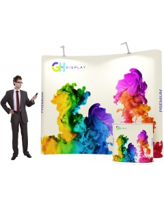 3 x 3 Premium Pop Up Display Bundle