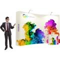 Premium 3x4 curved pop up display stand