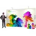 Premium 3x4 straight pop up display stand