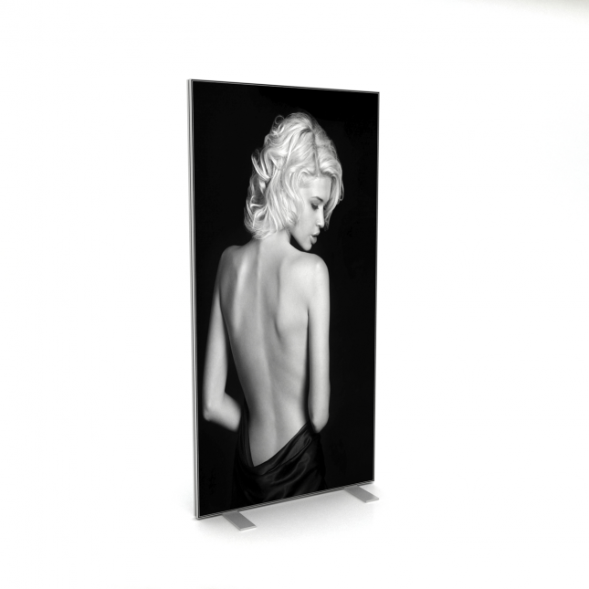 Double sided fabric exhibition stand