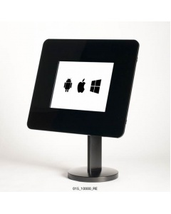 Expo 10 Counter Mounted Tablet/iPad Enclosure with Swivel and Steel Bezel