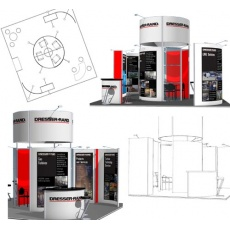 Free exhibition stand design service