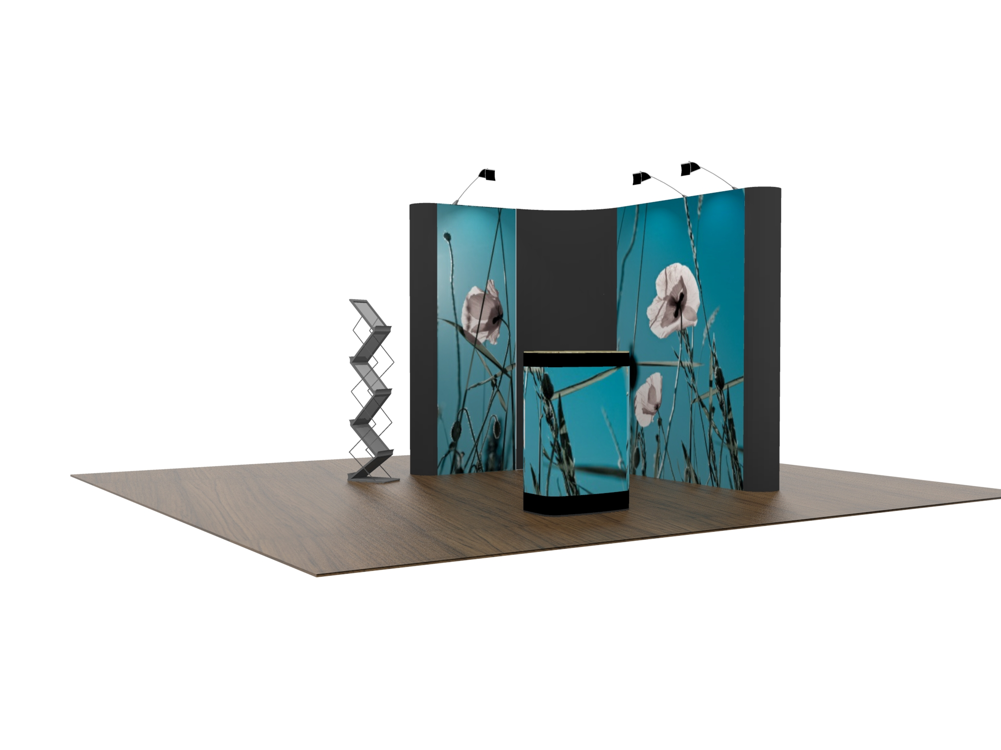Exhibition Shell Yard : L shaped pop up exhibition stand £ stands