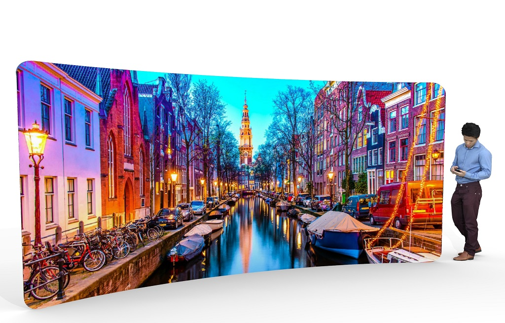 Fabric Exhibition Stand Jobs : Curved fabric displays exhibition stands gh