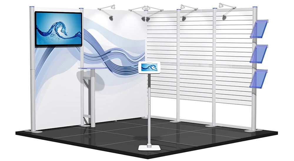 Modular Exhibition Stands Election : M centro modular exhibition stand with av and slat