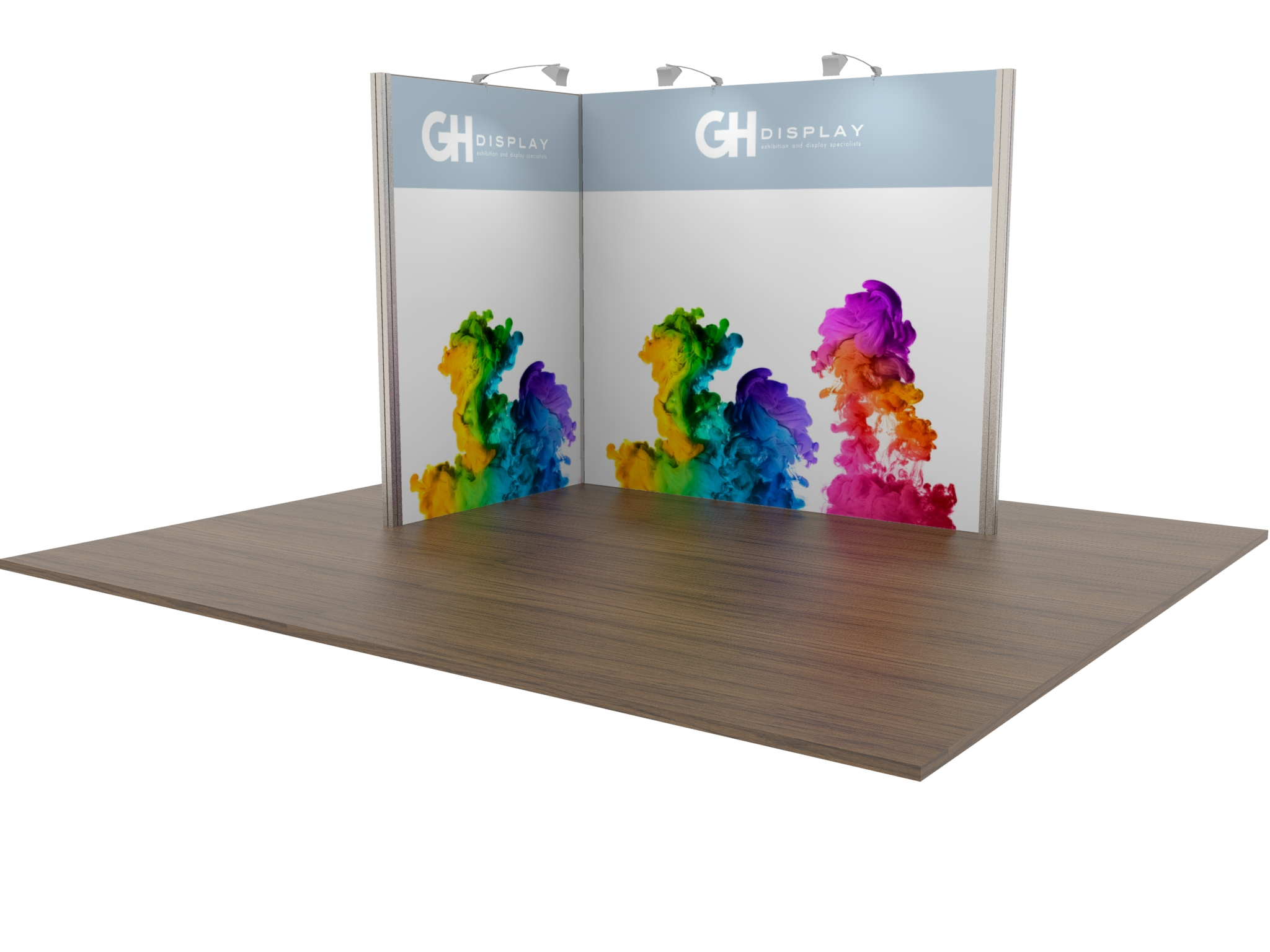 Modular Exhibition Stand Hire : £ modular exhibition stand open two sides