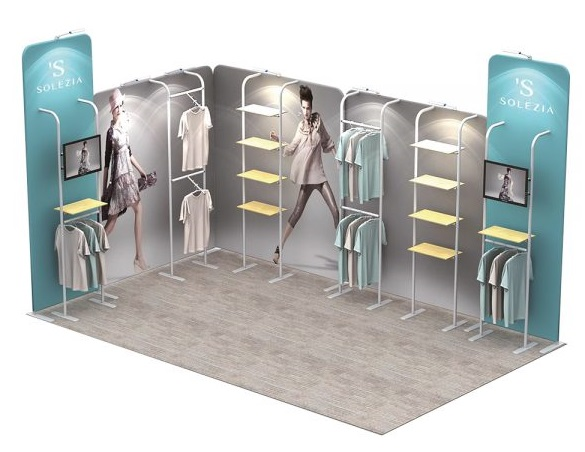 Stretch Fabric Exhibition Stands : Stretch fabric modular stands exhibition
