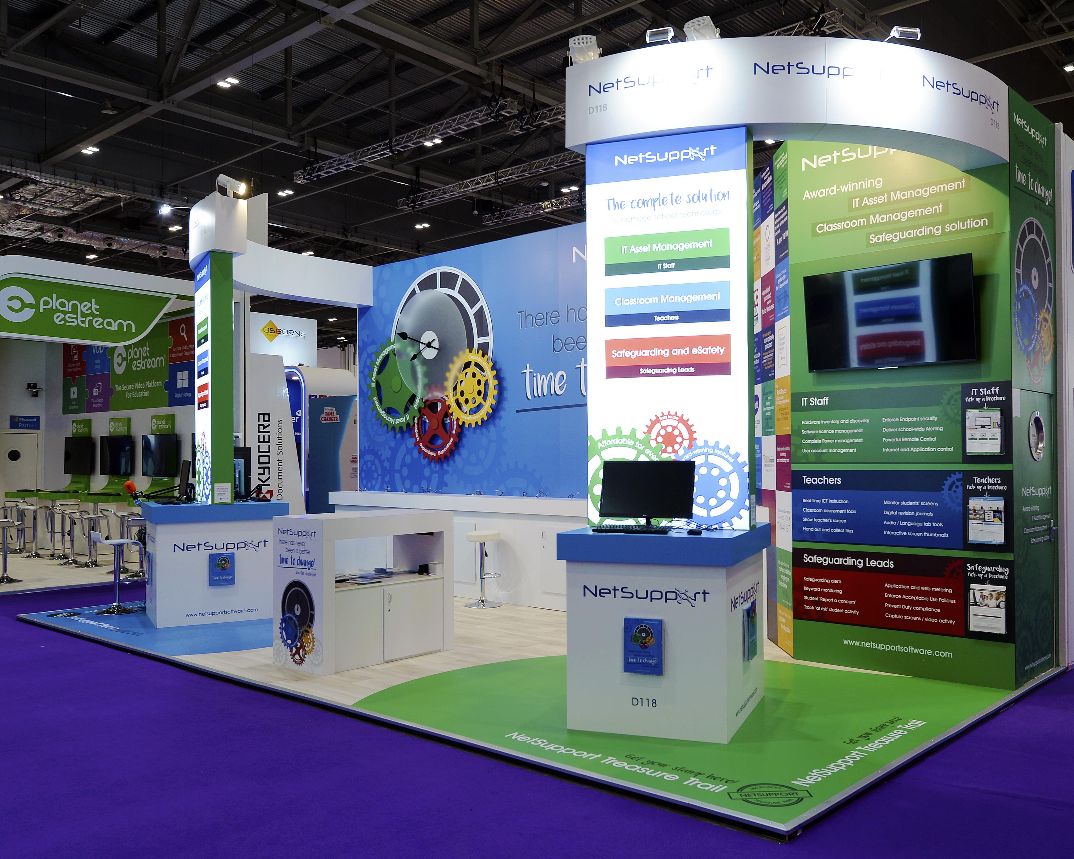 Exhibition Stand Job Vacancies : Netsupport custom exhibition stands