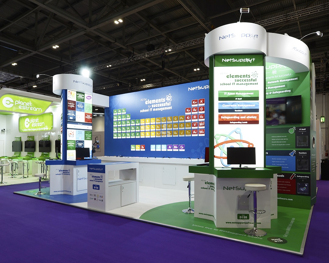 Custom Exhibition Stand Zone : Netsupport ltd custom exhibition stand