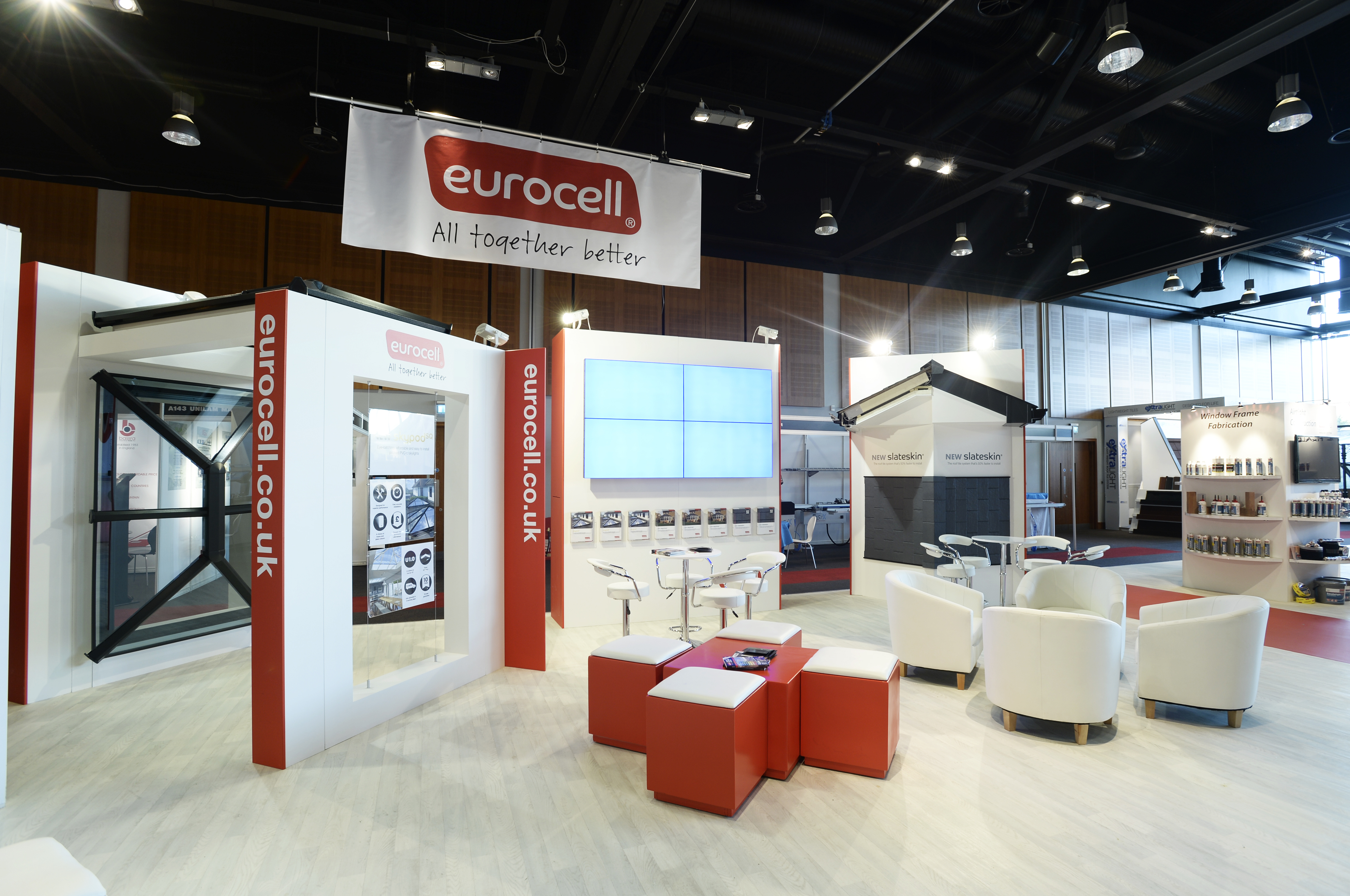 Exhibition Shell Jobs : Eurocell plc custom exhibition stand display